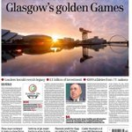 RT @Splashthenews: Just in case you missed it heres todays front page with stunning pic by @MearnsColin #Glasgow2014 http://t.co/KgvX8S5YfW