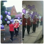 Everythings being set up. A whole line of balloons!! #bgugrad2014 http://t.co/h4qBfDbpIA
