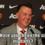 Louis van Gaal was asked if he was feeling the pressure of being Man Utd manager... http://t.co/UmOc5q2OeS