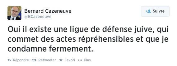 Ce matin le ministre @BCazeneuve condamnait dans un tweet la #LDJ. Mais ça c'était ce matin. Tweet supprimé http://t.co/hk0drx5s6W