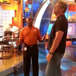 Golic looks really into his conversation with Charlie Strong! http://t.co/zVZo4tyHM9