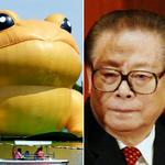 Does this giant inflatable toad look like Chinas ex-president Jiang Zemin? http://t.co/0KXNhOUqXJ http://t.co/ERFsyNxwO6