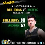 @jeronteng and the Archers finally brought their #mastergameface as they defeated the Bulldogs, 57 - 55! http://t.co/wBYw4Zvirl