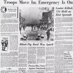 July 23, 1967: Detroit police raid an after-hours club & trigger days of rioting that kill 43. @freep #archives http://t.co/qrpEvWS75W