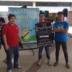 The DLSU USG together has opened road safety advocacy campaign exhibit today. #IngatLasalyano http://t.co/uYvTmEeNPz
