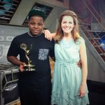 Proud of my homie.. @mynameisJabee chillin w his Emmy. Whoa http://t.co/8FVn7SsLRA