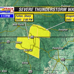 Severe TStorm Warning for: Fulton and Sharp Counties until 2pm and Oregon County until 1:45pm. #arwx #mowx http://t.co/lIq80RaM9s