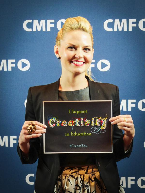 .@jenmorrisonlive, star of ABC's Once Upon A Time, took the pledge! Thx Jennifer! #CreateEdu http://t.co/LW4GyyehGP http://t.co/b0nIYPs55D