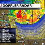 Stormtrack on line of severe storms East of Tulsa. wind to 70mph is the main threat. #okwx http://t.co/oBvtLCZAhj