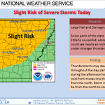 RT @jloganwxguy: NEW! RT@NWSLittleRock: Slight risk for severe weather across much of the state today. Stay weather aware. #ARWX #mowx http://t.co/3J2ATxBDjW