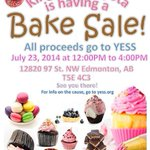 RT @Kingsway_Toyota: BAKE SALE TODAY!!! All proceeds go to @YESSorg! #yeg #yegevents http://t.co/2xlQ0aaDLC