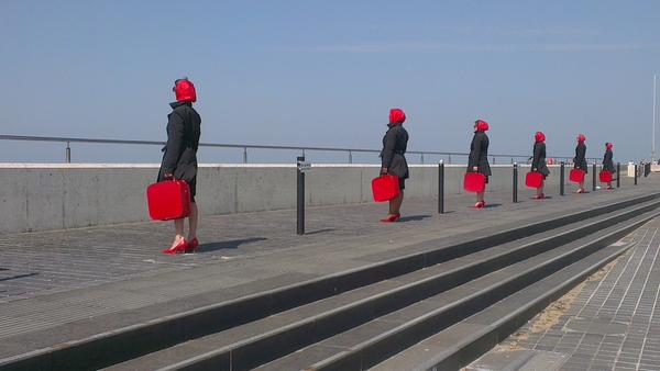 The Red Ladies just undertook another mission in Margate. They will be back so be vigilant! @ClodEnsemble http://t.co/Pqc8dUb4CU