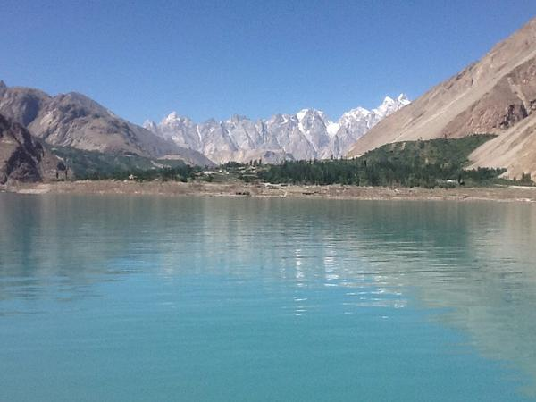 Beauty in tragedy? Attabad Lake created by a landslide dam in January 2010. Gojal Valley, Hunza, north #Pakistan