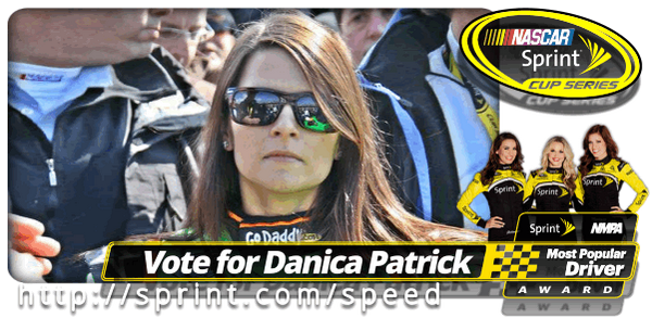 I just voted @DanicaPatrick '14 Sprint NMPA Most Popular Driver Award! Vote daily! #SprintMPD http://t.co/sOaPst5PXt http://t.co/rpaNWDQZWZ