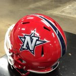New helmet with final decal and stripe on. #AllN http://t.co/cOaRhUP65S