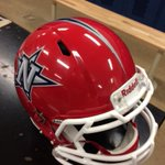 New helmet with final decal and stripe on. #AllN http://t.co/W6xY5NcFzh