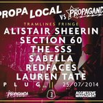 RT @plugsheffield: NOT LONG NOW! @PropaLocal vs. @PropagandaSheff at @plugsheffield to open the Tramlines Festival Fringe Weekender! http://t.co/2wFqlJDb5T