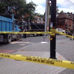 RT @ClaudiaCTV: Road closed at Somerset and Bronson after cyclist struck by dump truck. @ctvottawa #ottnews http://t.co/DQmOudImCQ