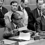 RT @IndiaHistorypic: 1969 :: Indian envoy debates Israel Palestine Issue in United Nations http://t.co/bHd21YJaBK