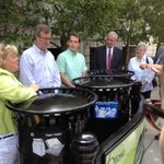 At the launch of the new pilot project for new waste and recycling bins on Laurier av. #ottcity http://t.co/1DC7HcVkN3 via @MathieuFleury
