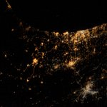 My saddest photo yet. From #ISS we can actually see explosions and rockets flying over #Gaza & #Israel http://t.co/jNGWxHilSy