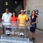 Coolest team in 114-degrees - @12News ice desk on The Plaza - #ChillOutAZ http://t.co/ZhKmdgXLFE