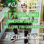 RT @frostycameron: rt for good luck on #CallMeCam and #FacetimeMeCam. http://t.co/hQ7HVtn4mu