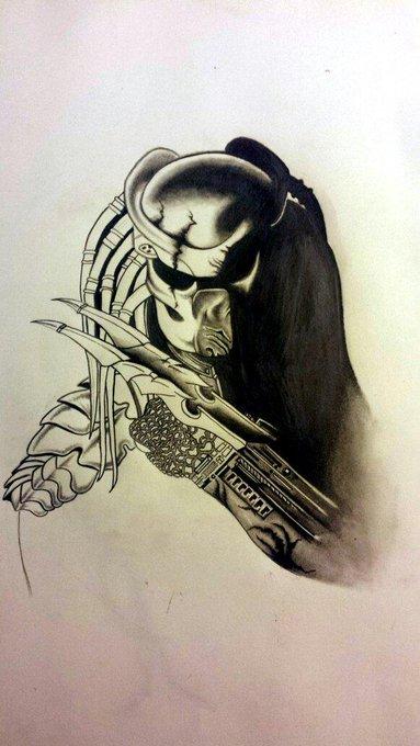 #Stoner #Doodles finally starting 2 finish shading in Mr.#predator :P #Art = #Meditation http://t.co