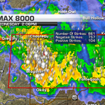The lightning between Wagoner and Chouteau is intense. Stay indoors. #okwx @ktulnews. http://t.co/1ibhwApeBi