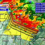 STRONG winds coming. Here are the times of arrival. Jonesboro within the hour. #arwx http://t.co/NnBtauEQiV