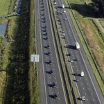 A pic is sometimes stronger than a thousand words. Bodies of #MH17 victims arrive in Holland: http://t.co/nlKuamAik9