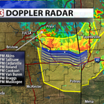 Stormtrack on severe storms moving S in EC OK. Winds to 70mph the main threat. #okwx http://t.co/cY3j1zKgNJ