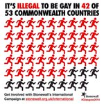 RT @stonewalluk: Did you know that its illegal to be gay in 42 of 53 Commonwealth countries. #Glasgow2014 #2014Ceremony http://t.co/wf4vRgwvzM