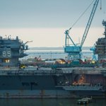 It moves us to see #USSEnterprise and #FordCVN78 side by side at Newport News Shipbuilding. http://t.co/s4M52qUkQr
