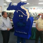Michigan Retailers unveiling the Buy Nearby Guy to remind consumers to buy local @wzzm13 http://t.co/xYQU06cZUQ