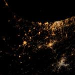 Heres what Gaza explosions look like from space. Photo by @NASA #PrayForGaza #IStandWithPalestine http://t.co/hauhGgabZT