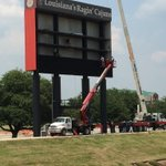 Installation of the videoboard has begun! This is just one of the upgrades at Cajun Field this year. #GeauxCajuns http://t.co/pqSXXgBPpC