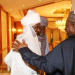 President Jonathan with Emir of Kano after breaking of Ramadan fast with traditional rulers at the State House today http://t.co/We2Du5GO5X
