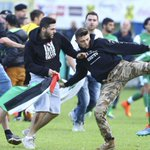 "Maccabi Haifa players were assaulted tonight by an anti-Israel mob during a ""friendly"" match against Lille. Sickening http://t.co/jihd3hRg6U"