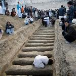 Mass graves of Hazara Shia Muslims killed by Sunni Muslims in Pakistan. But Pakistanis are mad at Israel. http://t.co/UgjJASmyKU
