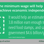 RT @USDOL: Reason 4: Raising the min wage now would help 3.8 million people off food stamps. #5reasons for #1010now http://t.co/hEQnkSNmgk