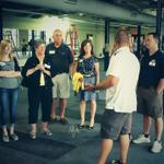 Rockets trainer Rudy Wade shows off the new Toledo weight room space at the new Larimer Athletic Complex #ToledoTough http://t.co/ESTxrL11hP