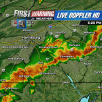RT @TOMRUSSELLCBS21: Line of strong storms continues to bring hvy rain and gusty winds to Adams, York and Lancaster Counties. Stay safe! http://t.co/rLvk0EHDvZ