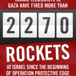 RT @IDFSpokesperson: Hamas has fired more than 2270 rockets at Israel since July 8. Thats more than 140 rockets a day for 16 days http://t.co/bVuqC45Z8l
