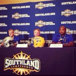 RT @WillSigl47: Shout out to my boys @MT_EVEREST94 and Antoine reppin the Pokes @SouthlandSports Media day. @McNeeseFootball http://t.co/rH0STIqffa