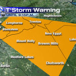 Severe Thunderstorm Warning till 9:15pm for the area in orange. Damaging winds, hail, and vivid lightning. http://t.co/ApZn1n046V