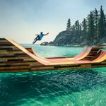 RT @VoceNaoSabiaQ: Mini rampa do skatista Bob Burnquist no meio do lago Tahoe, Califórnia - http://t.co/vjqZlyCaFu