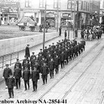 RT @harry_historian: Jul. 23, 1914 in #yyc: Funeral procession of @CGYFireFighters Capt. Barney Hodgson. @FireMuseumYYC #UnionCemeteryYYC http://t.co/SzM413Umn5