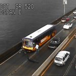 Collision on WB 520, photo via @wsdot_traffic http://t.co/6rehf5gFS2