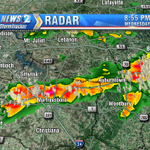 RT @lpattonwkrn: Lightning off to the east from Nashville. Murfreesboro & Smithville getting heavy rain and loads of lightning. http://t.co/CMnirhcCt7